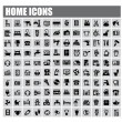 Home icons — Vektorgrafik