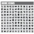 Stock Vector: Home icons