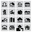 House icons — Vettoriali Stock