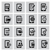 Mobile icons — Stock Vector