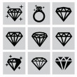 Diamond icons — Stock Vector #32482183