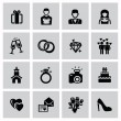 Wedding icons — Stock Vector #32483543