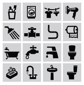 Bathroom icons — Vecteur