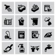 Cleaning icons — Vector de stock #32598105