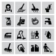 Cleaning icons — Vector de stock #32598303