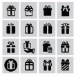 Stock Vector: Gift icons