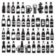 Stock Vector: Beer bottles