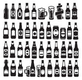 Beer bottles — Stock Vector
