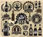 Beer pub labels — Stock Vector