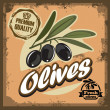 Vintage olive sign — Stock Vector