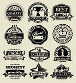 Premium quality badges — Stock Vector