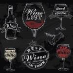 Vector chalk wine — Stock Vector