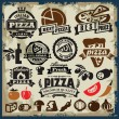 Pizza sign set — Stock Vector