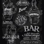 Chalk beer — Stock Vector