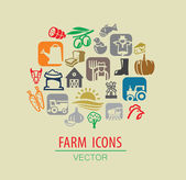 Farm icon set — Stock Vector
