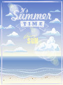 It' summer time — Vector de stock