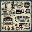 Wine labels — Stock Vector #34389801