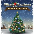 Merry christmas and happy new year — Imagens vectoriais em stock