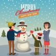 Vector merry christmas — Stockvectorbeeld