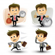 Vector businessman in various poses — Stock Vector #36777155