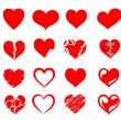 Vector hearts icon set — Stock Vector #36834581