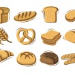 Stock Vector: Vector bread