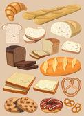Vector bread — Stock Vector