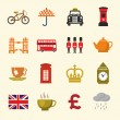 Uk icon set — Stock Vector