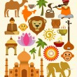 Stock Vector: Vector india icon set