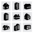 Vector houses icons set — Stock Vector