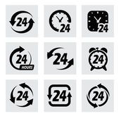 Vector 24 hours symbols — Stock Vector