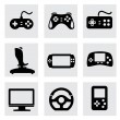 Vector video game and joystick icons set — Stock Vector #37789587