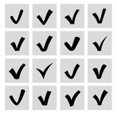 Vector confirm icons set — Stock Vector