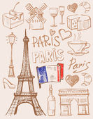 Vector hand drawn paris illustration — Stock Vector