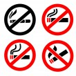 No smoking icons — Stock Vector #38715469