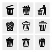Trash can icon — Stock Vector