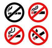 No smoking icons — Stock Vector
