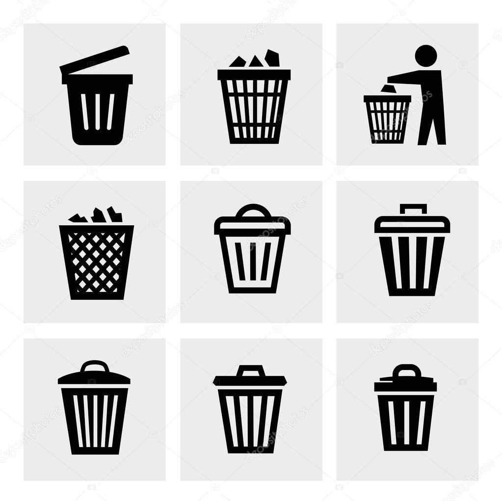 垃圾桶图标 — 图库矢量图像08