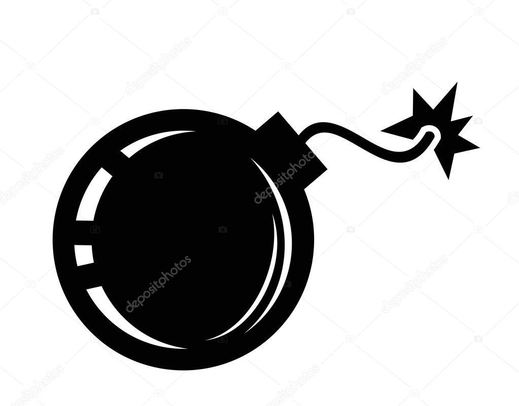 Bomb Icon Vector Bomb Icon — Vector by Bioraven