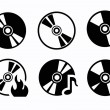CD icons — Stock Vector #38783443