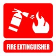 Stock Vector: Fire extinguisher
