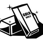 Gold bars — Stock Vector