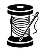 Spool of thread — Stock Vector