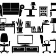 Stock Vector: Furniture icons