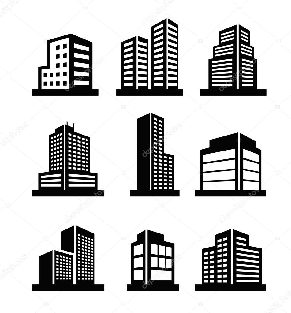 Hotel Building Icon Vector Buildings Icons Vector by