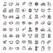 Vector black agriculture and farming icons set — ストックベクタ