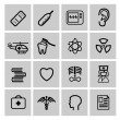 Medizin & Heath Care-Icons — Stockvektor