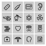 medicina e cuidados de saúde ícones — Vetorial Stock