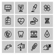 Medicine & Heath Care icons — Cтоковый вектор