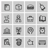 Education icons, signs, vector illustration set — Stock vektor